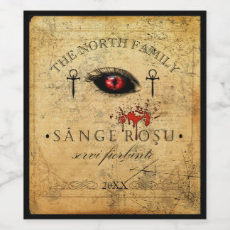 Eye of the Vampire Blood Red ID439 Wine Label