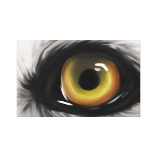 Eye of the Wolf Canvas Print