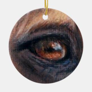 Eye of Tres Ceramic Ornament