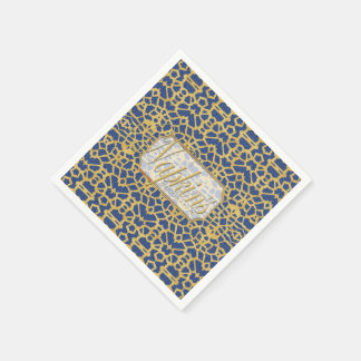 Eye-on-You Gold Blue Paper Napkin