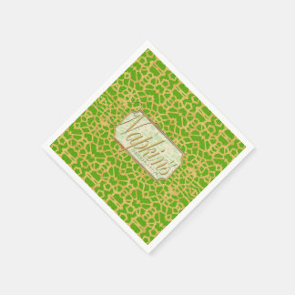 Eye-on-You Gold Green Paper Napkin