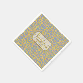 Eye-on-You Gold L-blue Paper Napkin