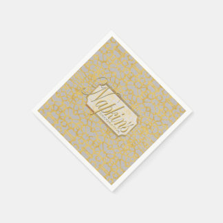 Eye-on-You Gold Marble Blue Paper Napkin