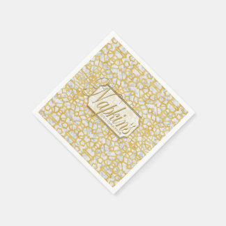 Eye-on-You Gold Marble Paper Napkin