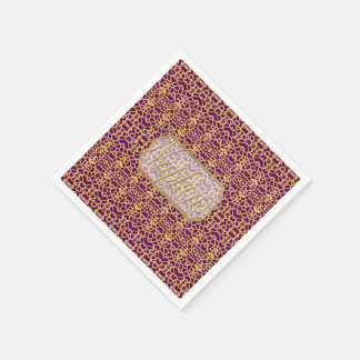 Eye-on-You Gold Purple Paper Napkin