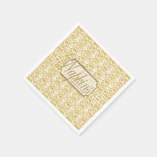 Eye-on-You Gold White Paper Napkin