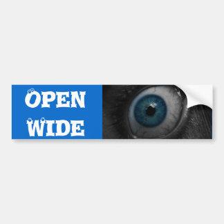 Eye Open Wide bumper sticker Car Bumper Sticker
