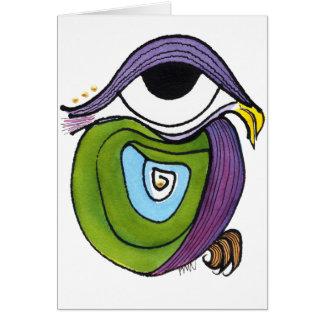 Eye, Parrot Notecard