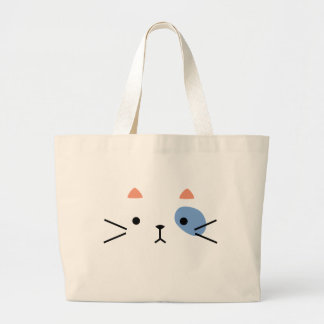 Eye Patch Kitty Large Tote Bag