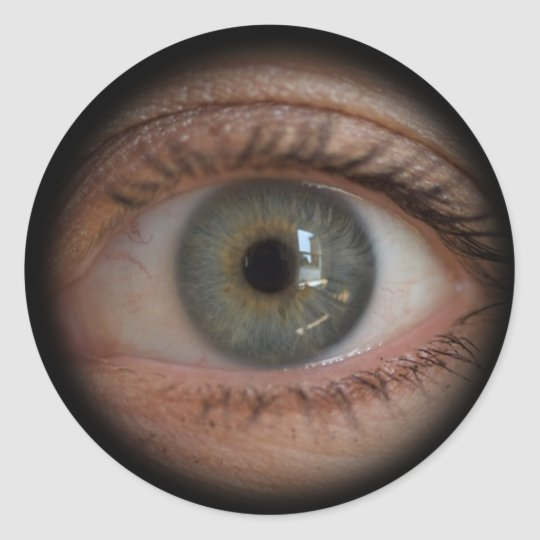 Eye Peephole Funny Sticker