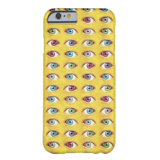 Eye Phone on Halftone Background Barely There iPhone 6 Case