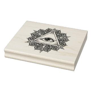 Eye Pyramid Symbol Doodle Rubber Stamp