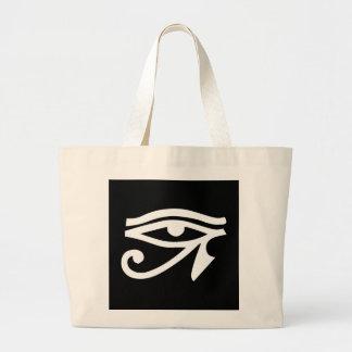 Eye Ra Horus Black Large Tote Bag