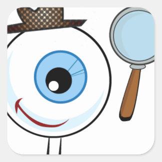 Eye Search Square Sticker