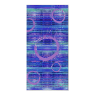 Eye See Blue Abstract Art Painting Poster Print
