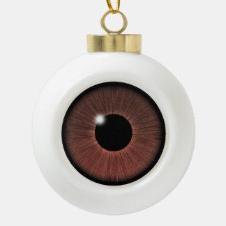 EYE SEE YOU CERAMIC BALL CHRISTMAS ORNAMENT
