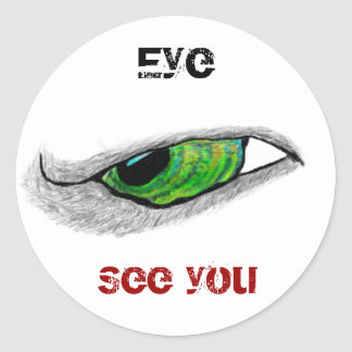 Eye, See you Classic Round Sticker