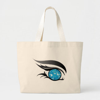 "EYE SEE YOU ""DECEMBER ZIRCON"" LARGE TOTE BAG"