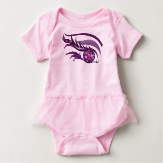"EYE SEE YOU ""FEBRUARY PURPLE AMETHYST"" BABY BODYSUIT"