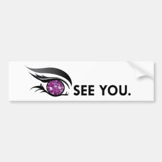 "EYE SEE YOU ""FEBRUARY PURPLE AMETHYST"" BUMPER STICKER"