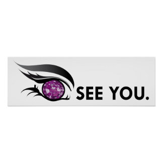 "EYE SEE YOU ""FEBRUARY PURPLE AMETHYST"" POSTER"