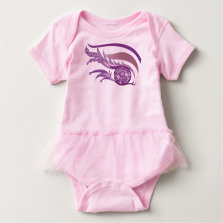 "EYE SEE YOU ""JUNE LIGHT PURPLE AMETHYST"" BABY BODYSUIT"