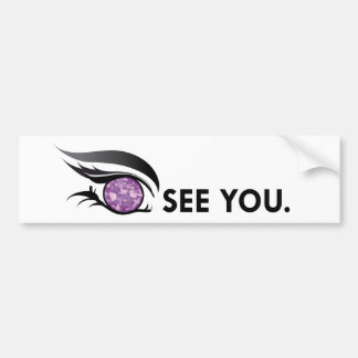 "EYE SEE YOU ""JUNE LIGHT PURPLE AMETHYST"" BUMPER STICKER"