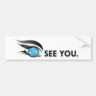 "EYE SEE YOU ""MARCH AQUAMARINE"" BUMPER STICKER"