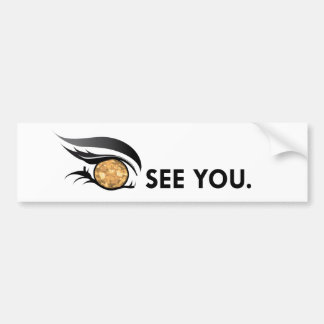 "EYE SEE YOU ""NOVEMBER TOPAZ"" BUMPER STICKER"