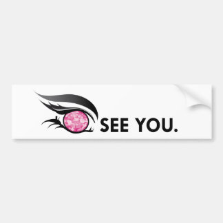 "EYE SEE YOU ""OCTOBER PINK ROSE"" BUMPER STICKER"