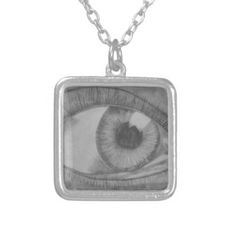 Eye See You Silver Plated Necklace