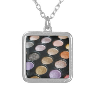 Eye Shadow Silver Plated Necklace