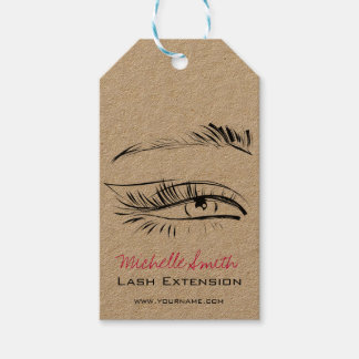 Eye Sketch Mascara Lash Extension Gift Tags