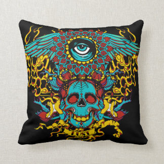 Eye skull pillow