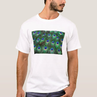 Eye-spots on Male Peacock feather T-Shirt