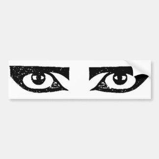 Eye sticker 2 bumper sticker
