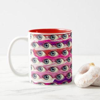 Eye Strokes Two-Tone Coffee Mug