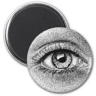 Eye Study Ink Drawing Magnet