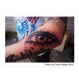 Eye tattoo postcard
