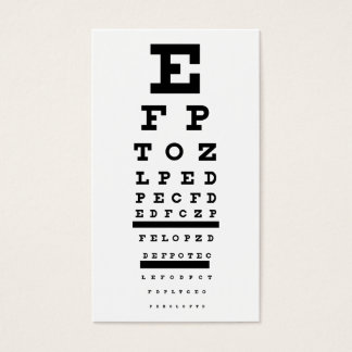 eye test business card