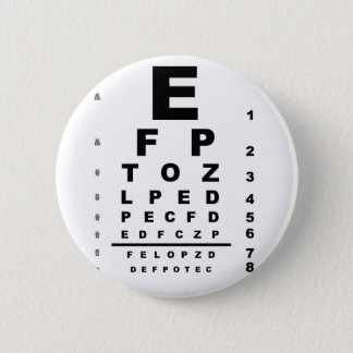 Eye Test Chart 2 Inch Round Button