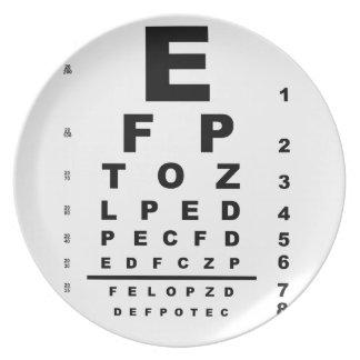 Eye Test Chart Plate