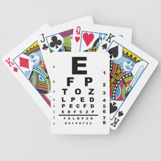 Eye Test Chart Poker Deck