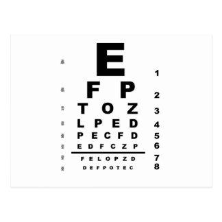 Eye Test Chart Postcard