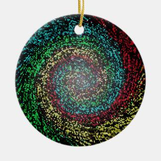 Eye test spiral round ceramic ornament