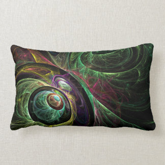 Eye to Eye Abstract Art Lumbar Pillow