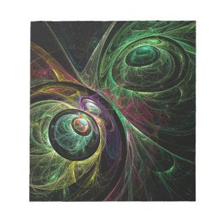Eye to Eye Abstract Art Notepad