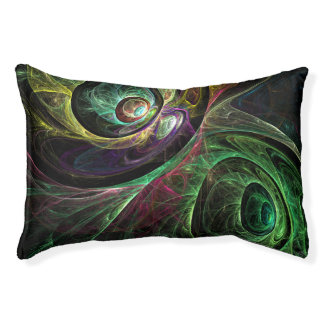 Eye to Eye Abstract Art Pet Bed