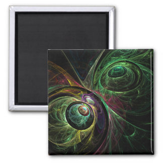 Eye to Eye Abstract Art Square Magnet