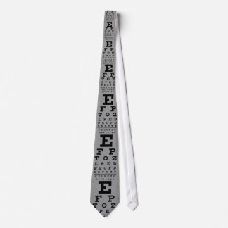 eye vision chart tie
